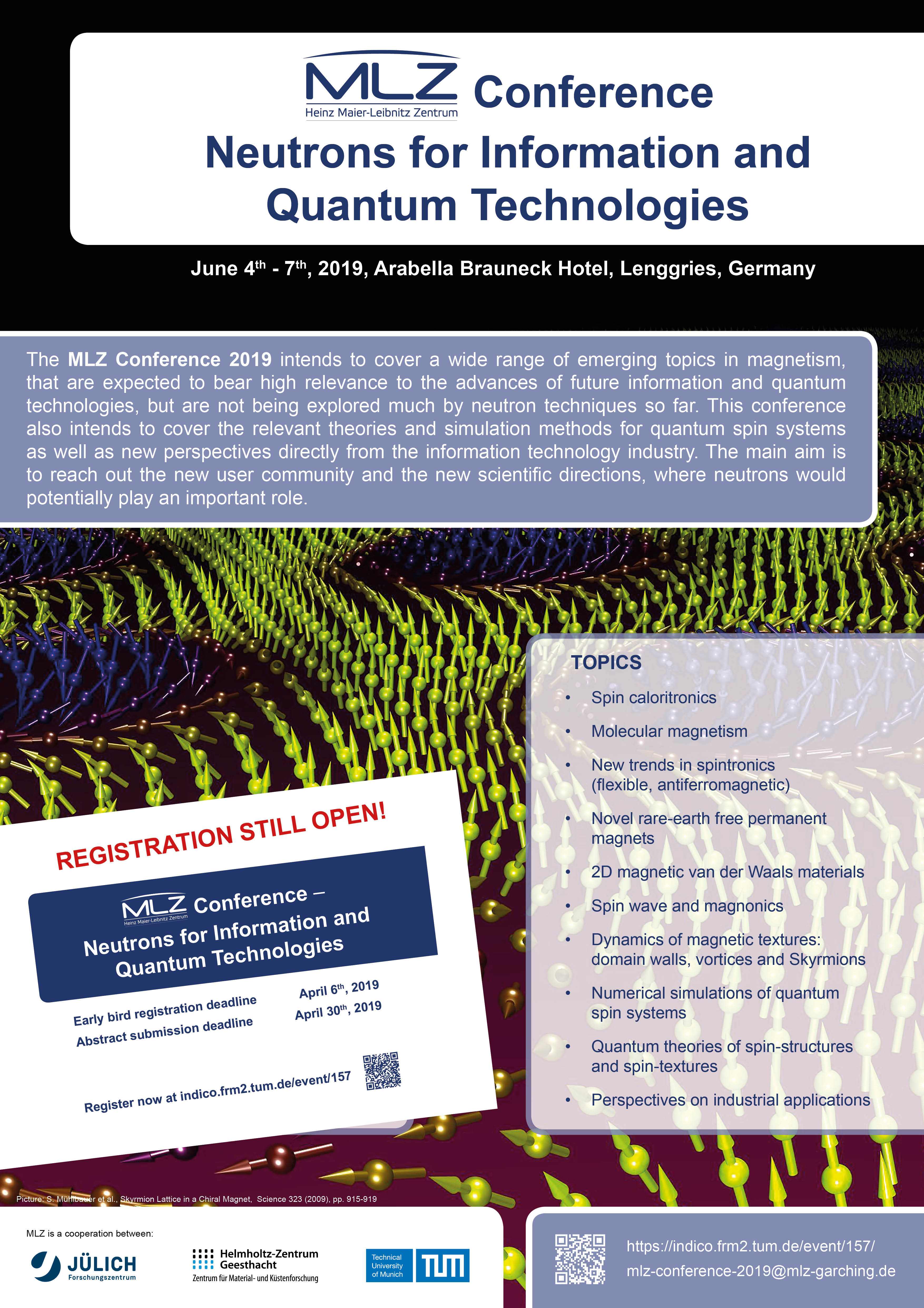 MLZ Conference: Neutrons for information and quantum